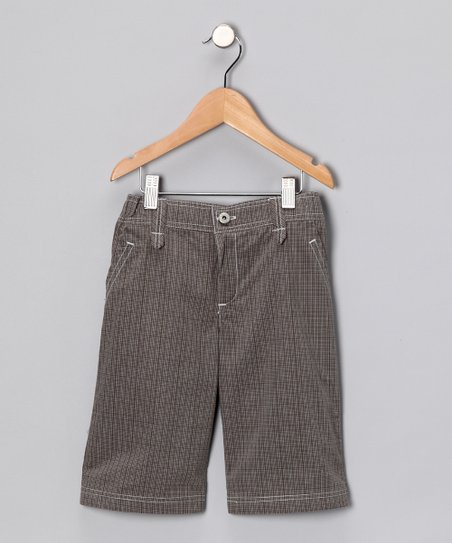 Brown Plaid Pants - Infant, Toddler &amp; Boys