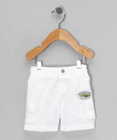 White Cargo Shorts - Infant