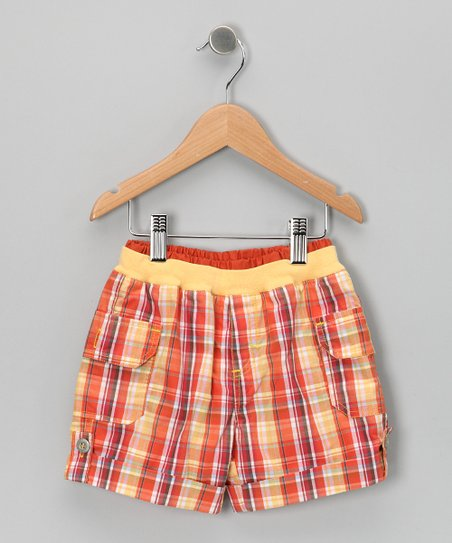 Orange Plaid Shorts - Toddler &amp; Boys