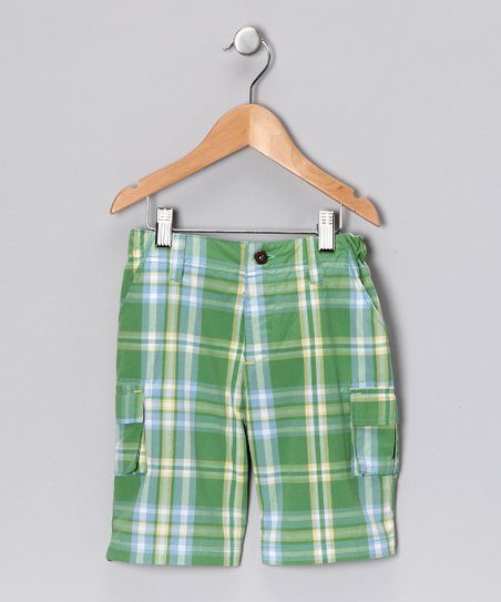 Grass Plaid Cargo Shorts - Infant, Toddler & Boys