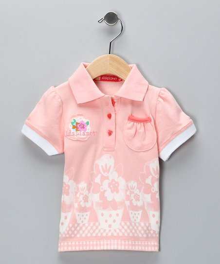 Peach Patio Polo - Infant & Girls