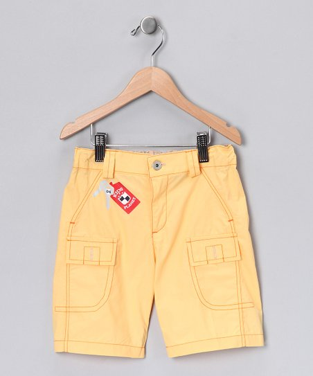 Yellow Cargo Shorts - Toddler & Boys