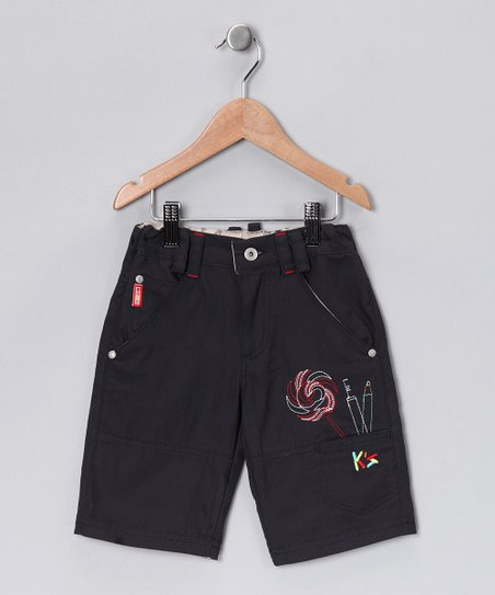 Navy Lollipop Cargo Shorts - Toddler & Boys