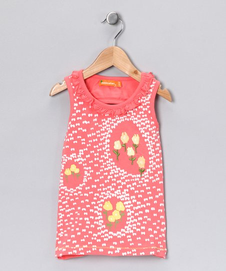 Orange Field Tank - Toddler & Girls