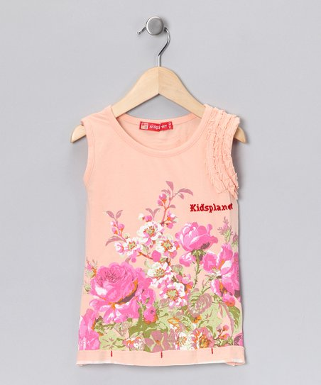 Peach Blossom Tank - Toddler & Girls