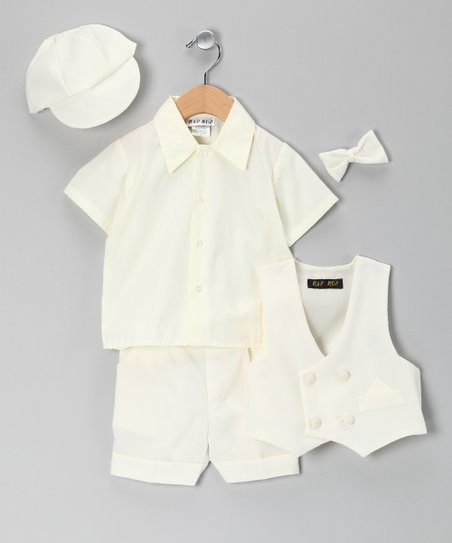 Ivory Short Suit Set - Infant