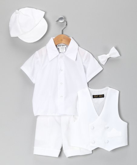 Kids of California White Short Suit Set - Infant