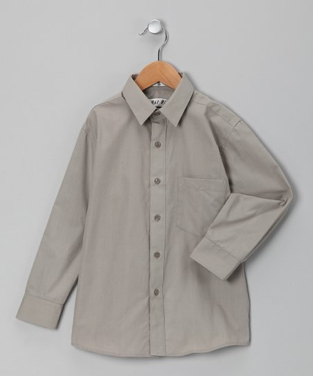 Gray Button-Up - Toddler &amp; Boys