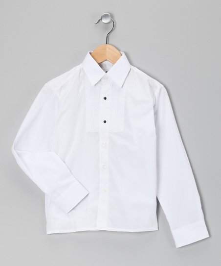 White Tuxedo Button-Up - Toddler & Boys