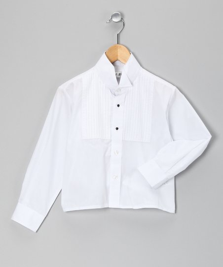 White Tall Tuxedo Button-Up - Toddler &amp; Boys