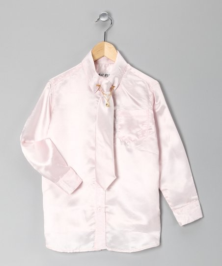 Pink Button-Up Set - Toddler & Boys