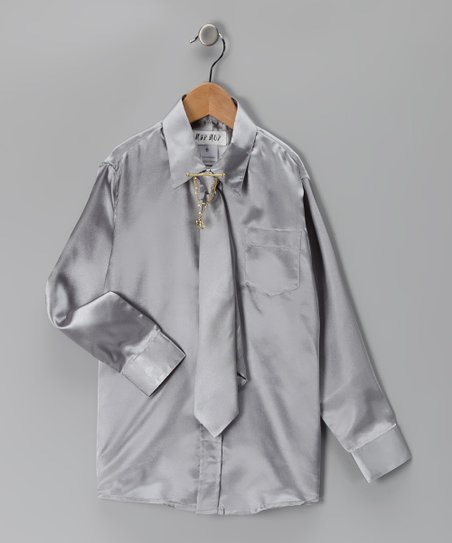 Silver Button-Up Set - Toddler & Boys