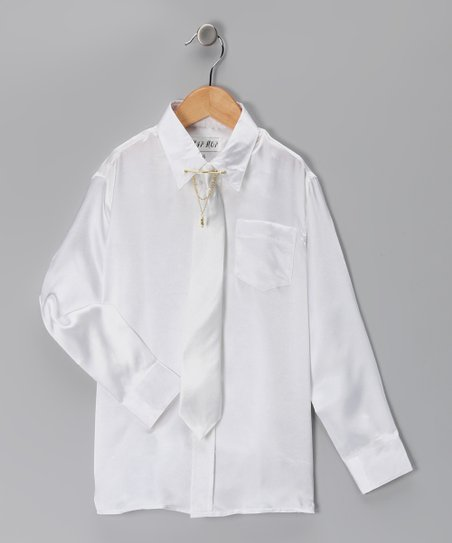 White Button-Up Set - Toddler & Boys