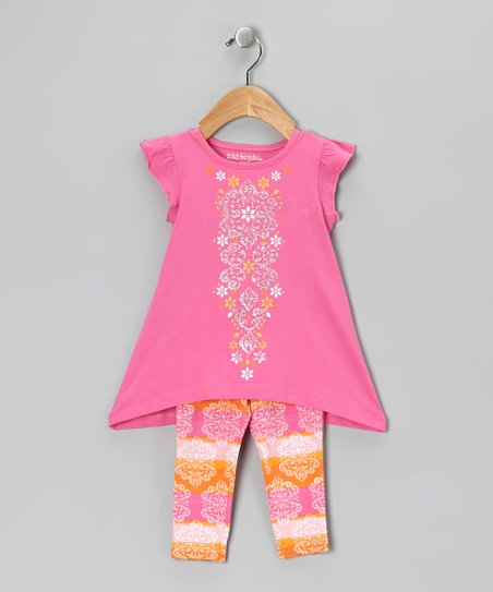 Pink Angel-Sleeve Tunic &amp; Leggings - Infant &amp; Girls