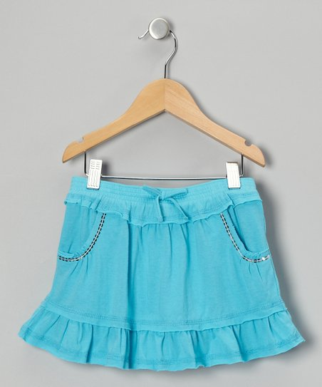 Blue Ruffle Skirt - Toddler & Girls