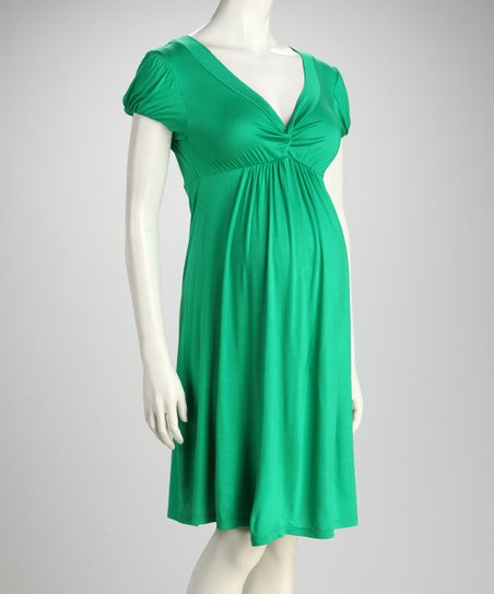 Green Knot Maternity Dress