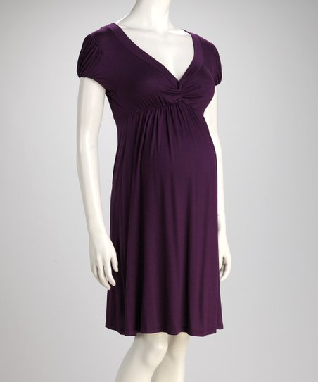 Purple Knot Maternity Dress