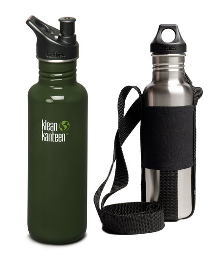 Klean Kanteen Forest Green 27 oz. Sport Cap Bottle & Sling