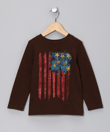 Chocolate Vintage Flag Tee - Infant, Toddler & Boys