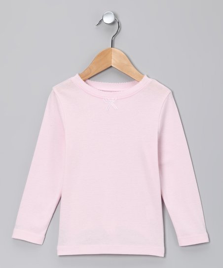 Pink Frost Long-Sleeve Tee - Toddler & Girls