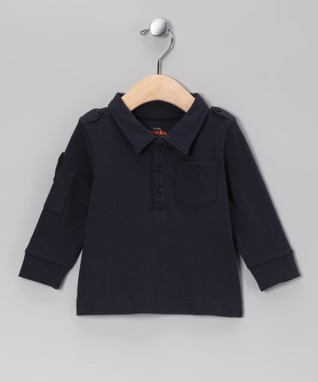 Navy Military Polo - Infant, Toddler & Boys