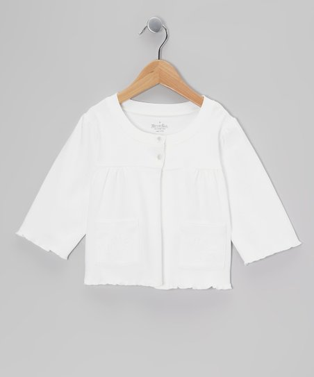 White Knit Cardigan - Toddler & Girls