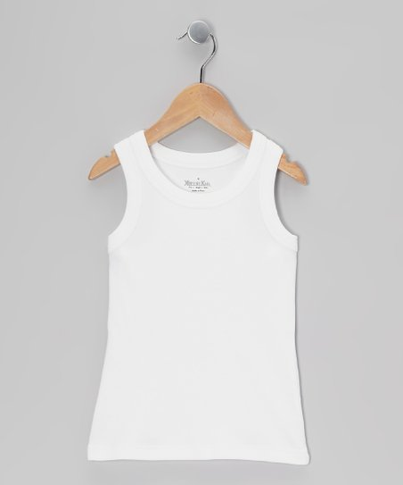 White Racerback Tank - Toddler & Girls