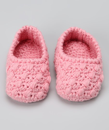 Pink Crocheted Bobble Booties