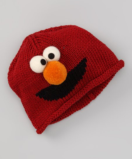 Red Elmo Cotton Beanie - Toddler & Kids