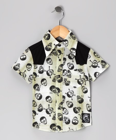 Knuckleheads Black Rockabilly Button-Up - Infant, Toddler & Boys