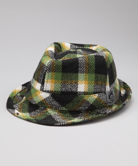 Black Plaid Clark Fedora - Infant, Toddler & Boys