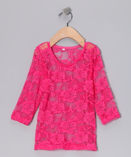 Hot Pink Lace Top -  Infant & Toddler
