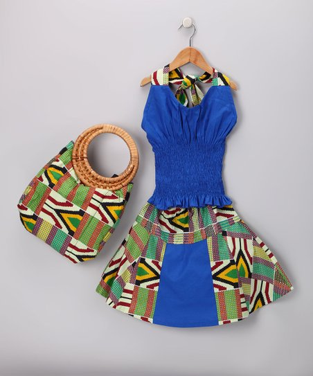 Kradle Kouture Tropical Kente Skirt Set - Toddler & Girls