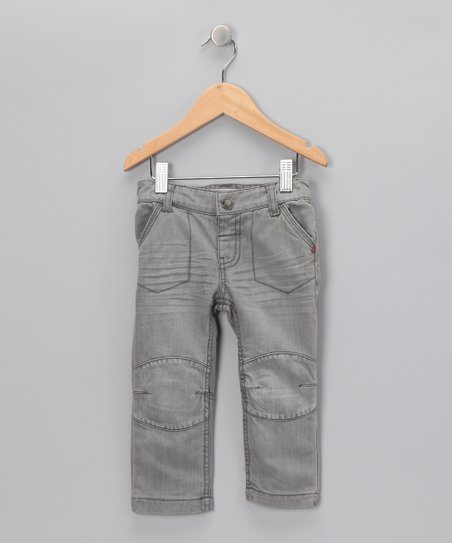 Gray Knee Patch Jeans - Infant &amp; Toddler