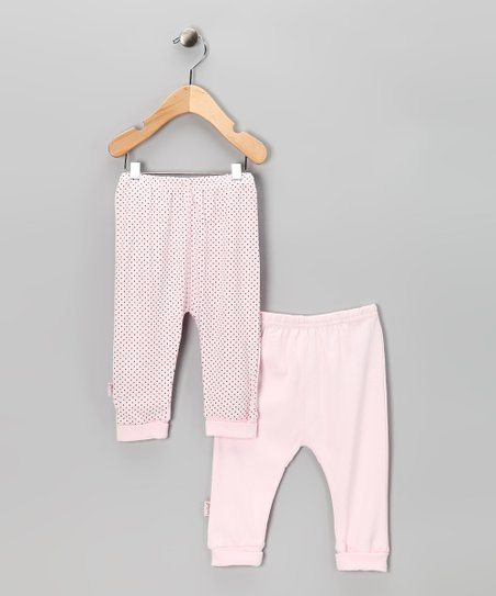 Pink & Polka Dot Everyday Organic Pants Set - Infant