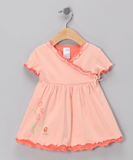 Light Mango Short-Sleeve Dress - Infant