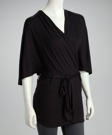 Black Surplice Tunic
