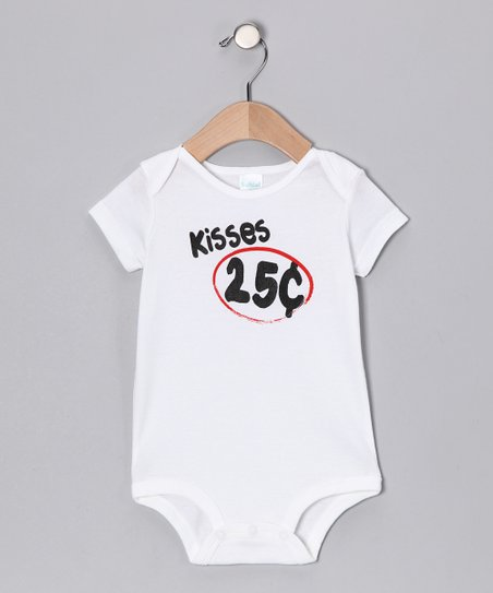 White 'Kisses' Bodysuit