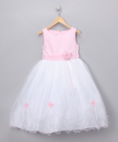 Pink Rose Satin Dress - Infant & Girls