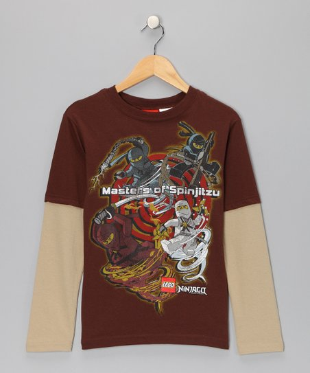 Brown Ninjago Layered Tee - Boys