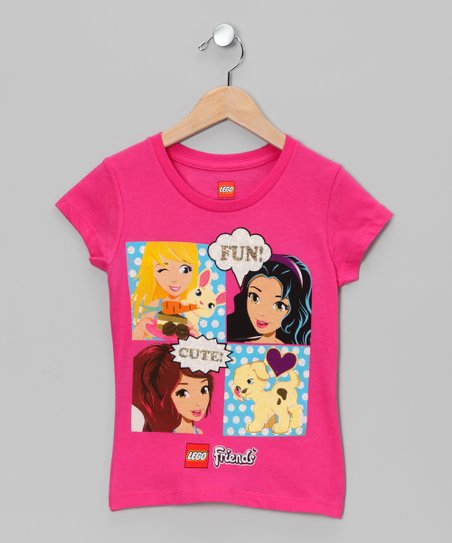 Pink 'Fun' LEGO Friends Tee - Girls