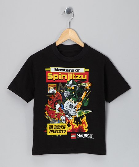 LEGO Black Ninjago Comic Tee - Boys