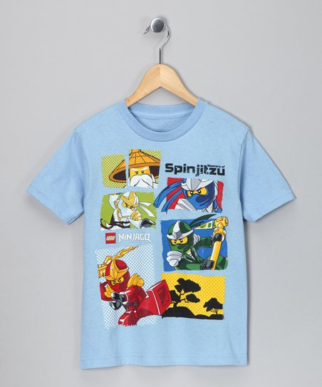 LEGO Light Blue Ninjago 'Spinjitzu' Tee - Boys