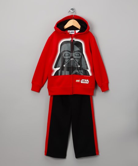 LEGO Star Wars Red Darth Zip-Up Hoodie & Pants - Toddler & Boys