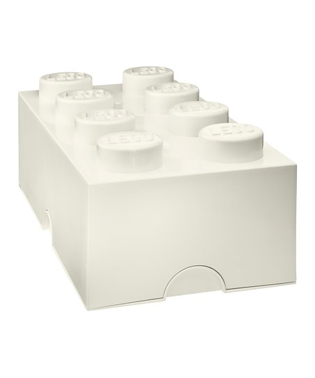 White LEGO 2 x 4 Storage Brick