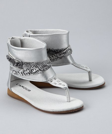 Silver Gladiator Sandal