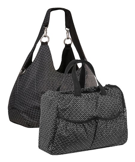 Black Gold Label Reversible Shoulder Diaper Bag