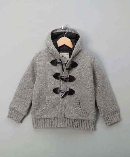 Gray Wool Billy Jacket - Boys