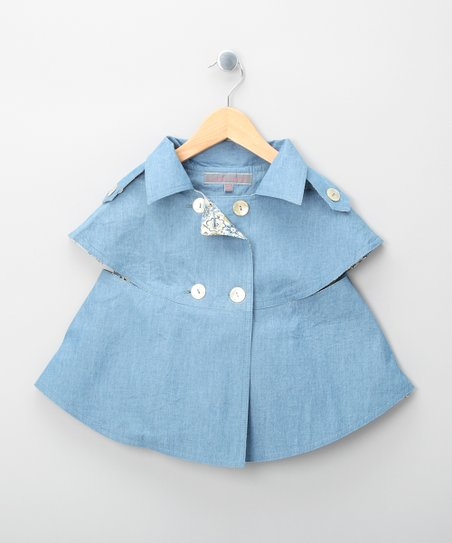 Blue Sherlock Sleeveless Coat - Girls