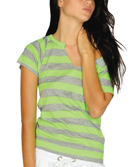Neon Green Cutout-Back Top